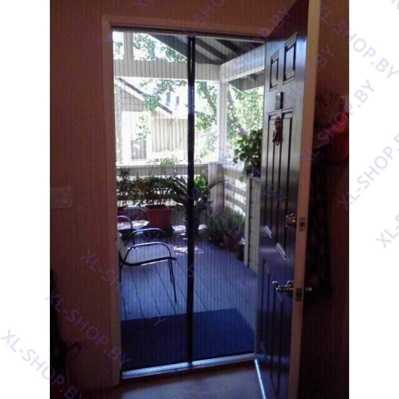 Дверная антимоскитная сетка на магнитах от насекомых 100 х 210 см